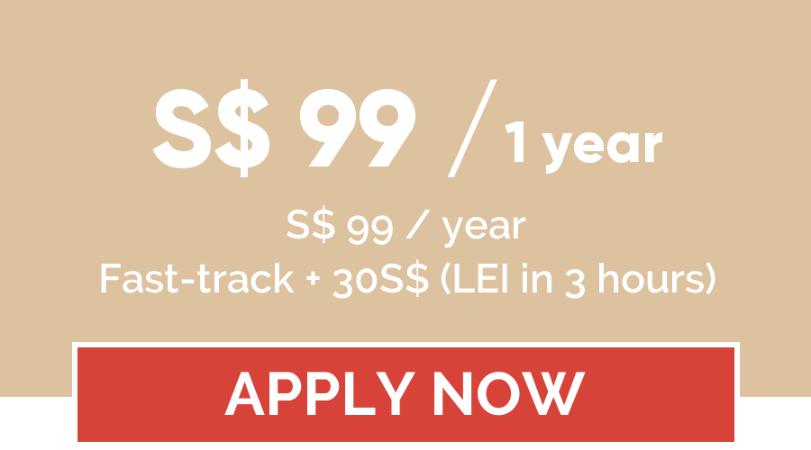 LEI registration price for 1 year - LEI Register Singapore