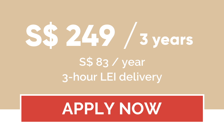 LEI registration price for 3 years - LEI Register Singapore